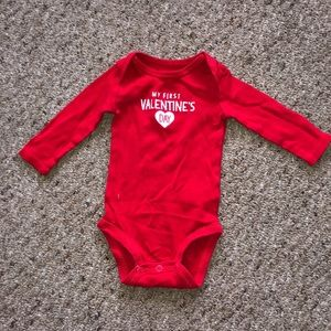 First Valentines Long Sleeve Onesie